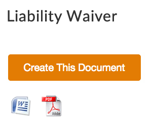 Free Liability Release Form  Liability Waiver Template Word